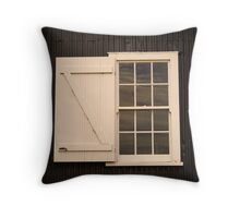 A window at Ritchie's Mill, Launceston Throw Pillow