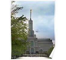 Mount Timpanogos Temple - May Snowstorm Poster