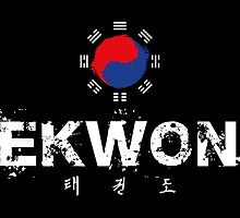 Taekwondo Text and Lettering White text by DCornel