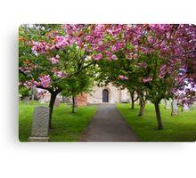 The Churchyard Canvas Print