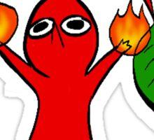 Fight Me! (Red Pikmin) Sticker