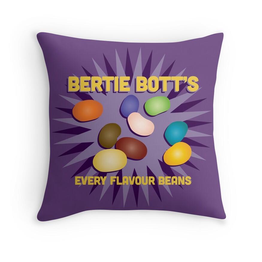 Bertie Bott's Every Flavour Beans - Harry Potter   Throw Pillow
