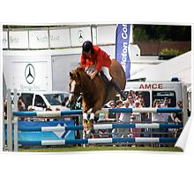 Show Jumper. Ready to land. Poster