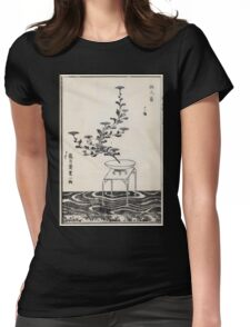 Shofu Enshuryu ikebana hamana no umi Flower Arrangement Toto Shoshi V3 1835 0011 Womens Fitted T-Shirt