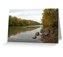 Autumn River Greeting Card