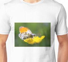 Orange Tip on Buttercup Unisex T-Shirt