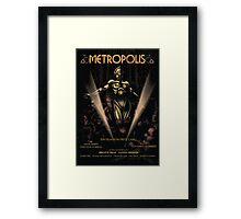 Metropolis alternative movie poster Framed Print