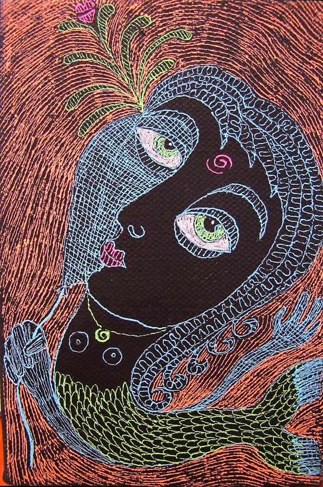 mermaid with mask by donna malone
