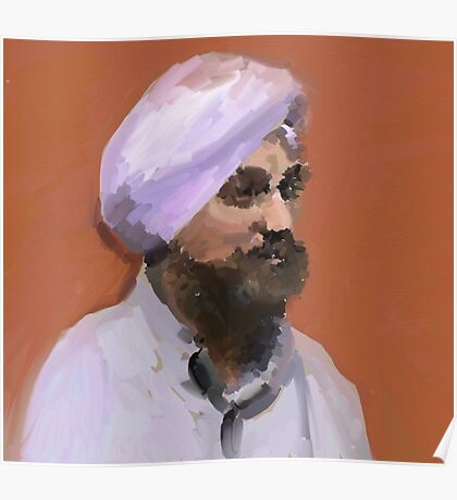 Turbaned Poster