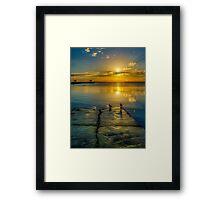 Wynnum at Sunrise Framed Print