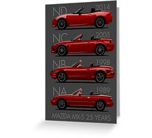 Mazda MX-5 25 years Greeting Card