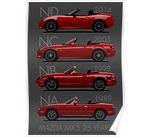 Mazda MX-5 25 years Poster