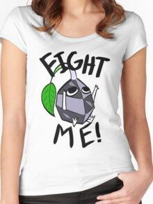 Fight me! (Rock Pikmin) Women's Fitted Scoop T-Shirt