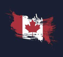 Canada Flag Brush Splatter One Piece - Short Sleeve
