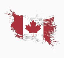 Canada Flag Brush Splatter Kids Clothes