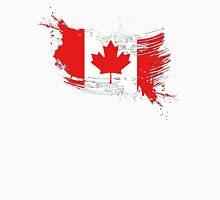 Canada Flag Brush Splatter Unisex T-Shirt