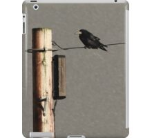 Rook on a wire iPad Case/Skin