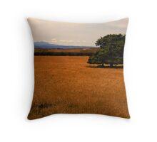 A single tree at Longford, Tasmania Throw Pillow
