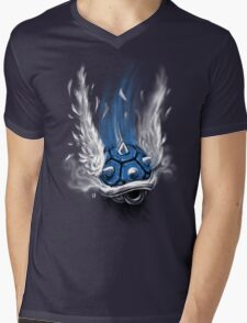 Blue Shell Attack Mens V-Neck T-Shirt