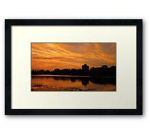 the waterline...... Framed Print