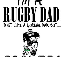 Rugby Dad But Cooler T Shirts, Stickers and Other Gifts by zandosfactry