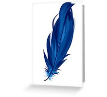 Blue Feather Greeting Card