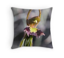 Fringed Hair Orchid        Col Var 1 Throw Pillow
