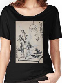 Yenshu ryu ikebana hiak bin no zu shiki konzatsu Flower arrangement in the Enshu style V1 1897 0018 Women's Relaxed Fit T-Shirt