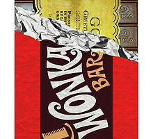 Willy Wonka Chocolate Bar by ImageMonkey