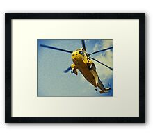 Sea King helicopter fly over Framed Print