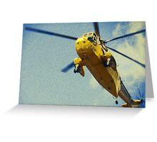 Sea King helicopter fly over Greeting Card