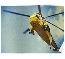 Sea King helicopter fly over Poster