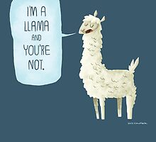 I'm a llama by Jeff Crowther