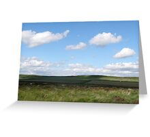 The other side of Curbar Edge Greeting Card