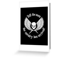 Imperial Guard white, Warhammer 40K Greeting Card