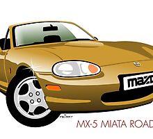 Mazda MX-5 Miata NB gold by car2oonz