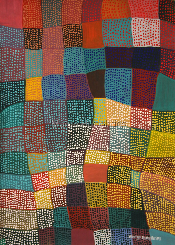 Dot Patchwork Landscape by Margo Humphries