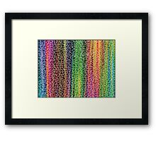 Difficult color puzzle Framed Print