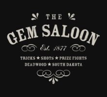 The Gem Saloon, Deadwood One Piece - Short Sleeve