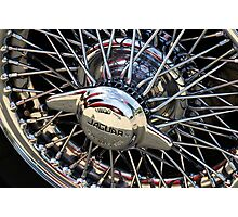 Alloy wheel on Jaguar mark 2 Photographic Print