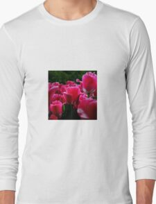 pink beautiful smell flowers Long Sleeve T-Shirt