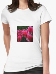 pink beautiful smell flowers Womens Fitted T-Shirt