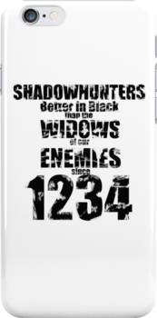 Shadowhunters: Better In Black by Neelam Ali