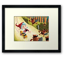 Red's Forest Delivery Service Framed Print