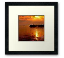 beautiful natural summer sunset Framed Print