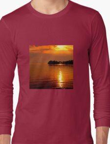 beautiful natural summer sunset Long Sleeve T-Shirt