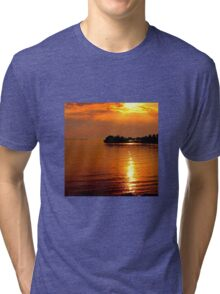 beautiful natural summer sunset Tri-blend T-Shirt