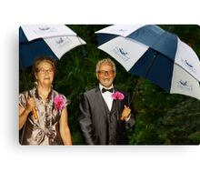 Happiness Personified Mother and Father of the Groom Canvas Print