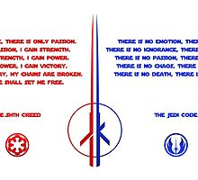 The Jedi and Sith Code by DCornel
