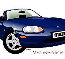 Mazda MX-5 Miata NB dark blue by car2oonz